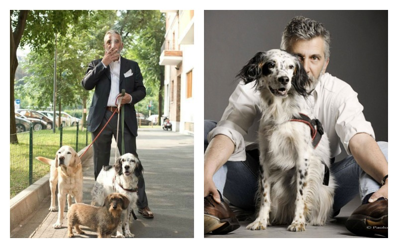 carlo chiesa e i suoi cani