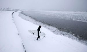 winter surfing italia