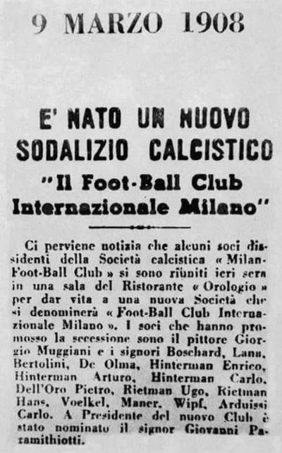 inter 9 marzo 1908